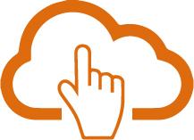 gestorinformático nube y mano